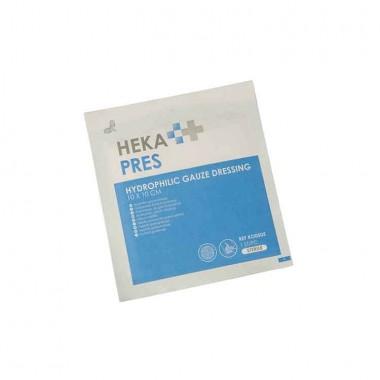 HEKA pres hydrofiel gaaskompres 10 x 10 cm steriel - 12 lagen los