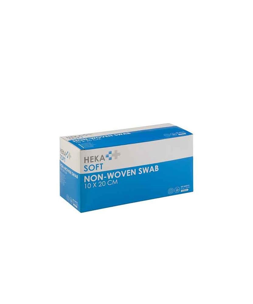 HEKA soft non-woven kompres 10 x 20 cm steriel - doos - 4 laags