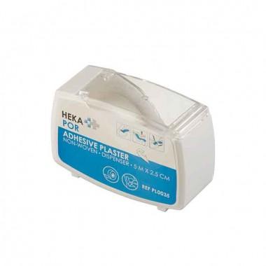 HEKA por non-woven hechtpleister dispenser 5 m x 2,5 cm niet steriel - los