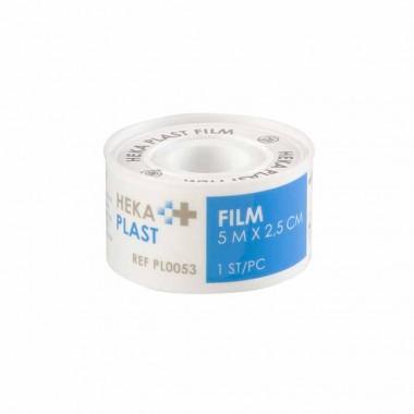 HEKA film hechtpleister PE tape 5 m x 2,5 cm niet steriel - rol