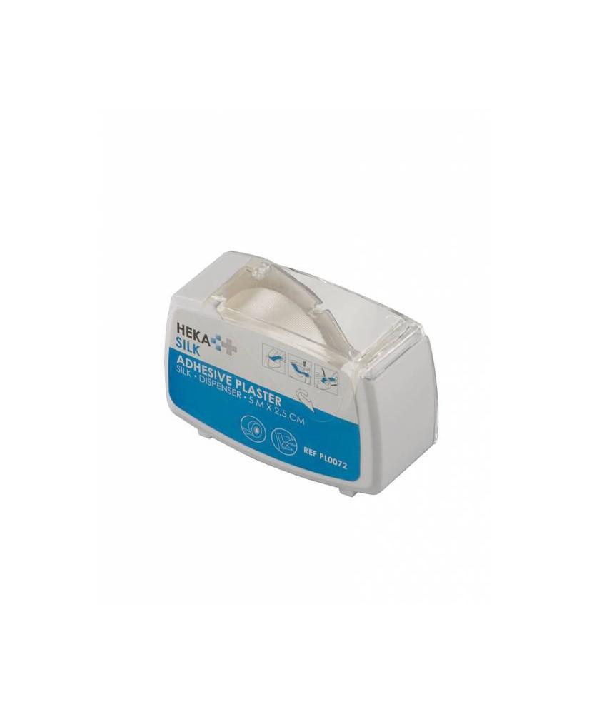 HEKA silk dispenser 5 m x 2,5 cm niet steriel