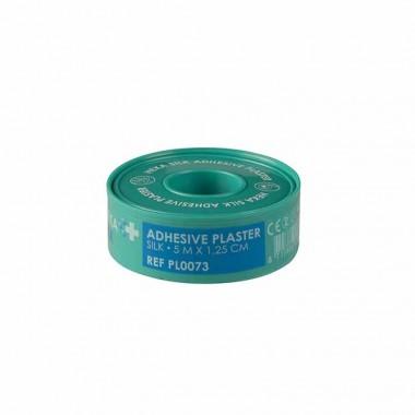 HEKA silk hechtpleister ring 5 m x 1,25 cm niet steriel - rol