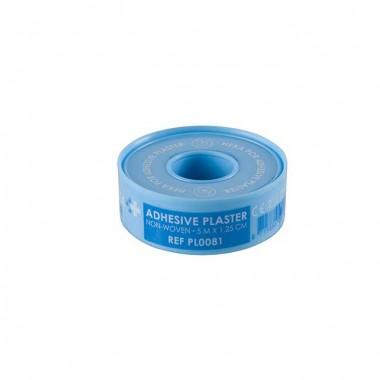 HEKA por non-woven hechtpleister ring 5 m x 1,25 cm niet steriel - rol
