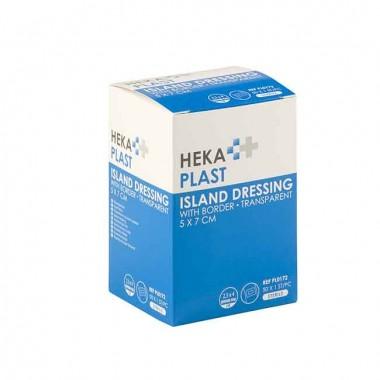 HEKA plast border transparant 5 x 7 cm steriel - doos