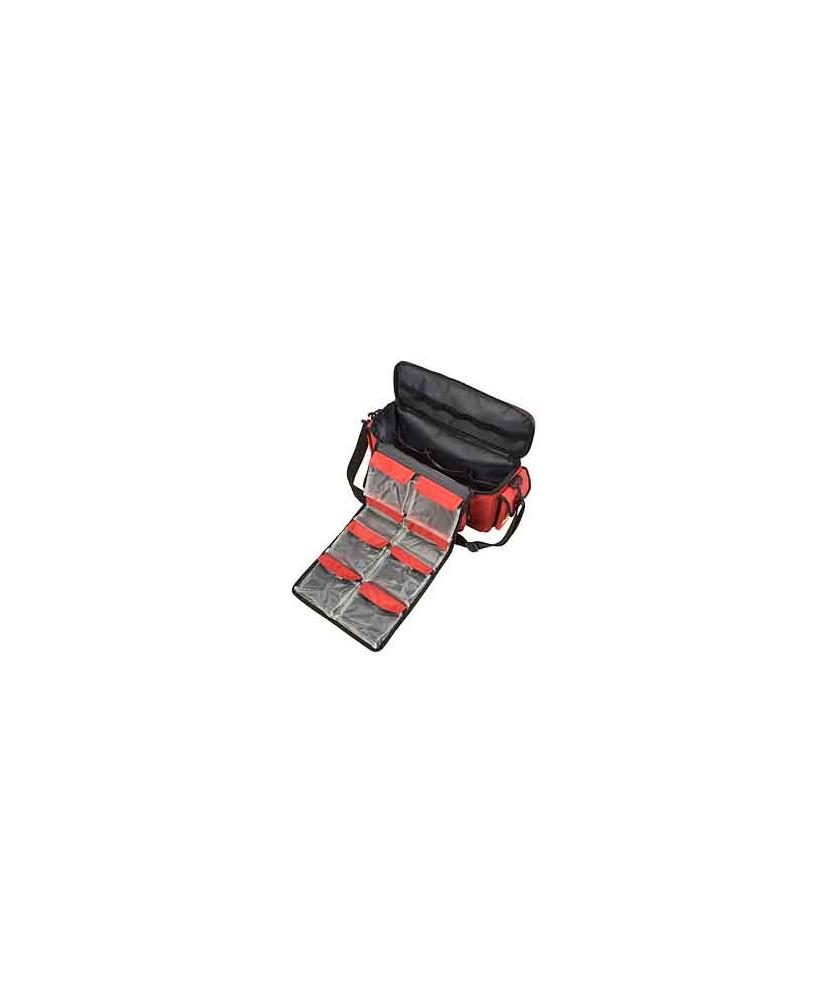 HEKA eerste hulp schouder- sporttas rood leeg