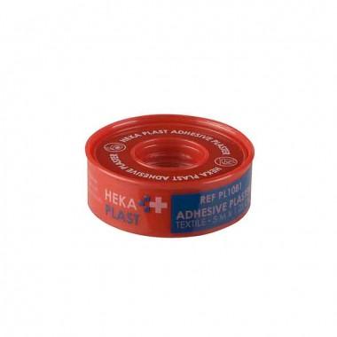 HEKA plast hechtpleister textiel ring 5 m x 1,25 cm niet steriel