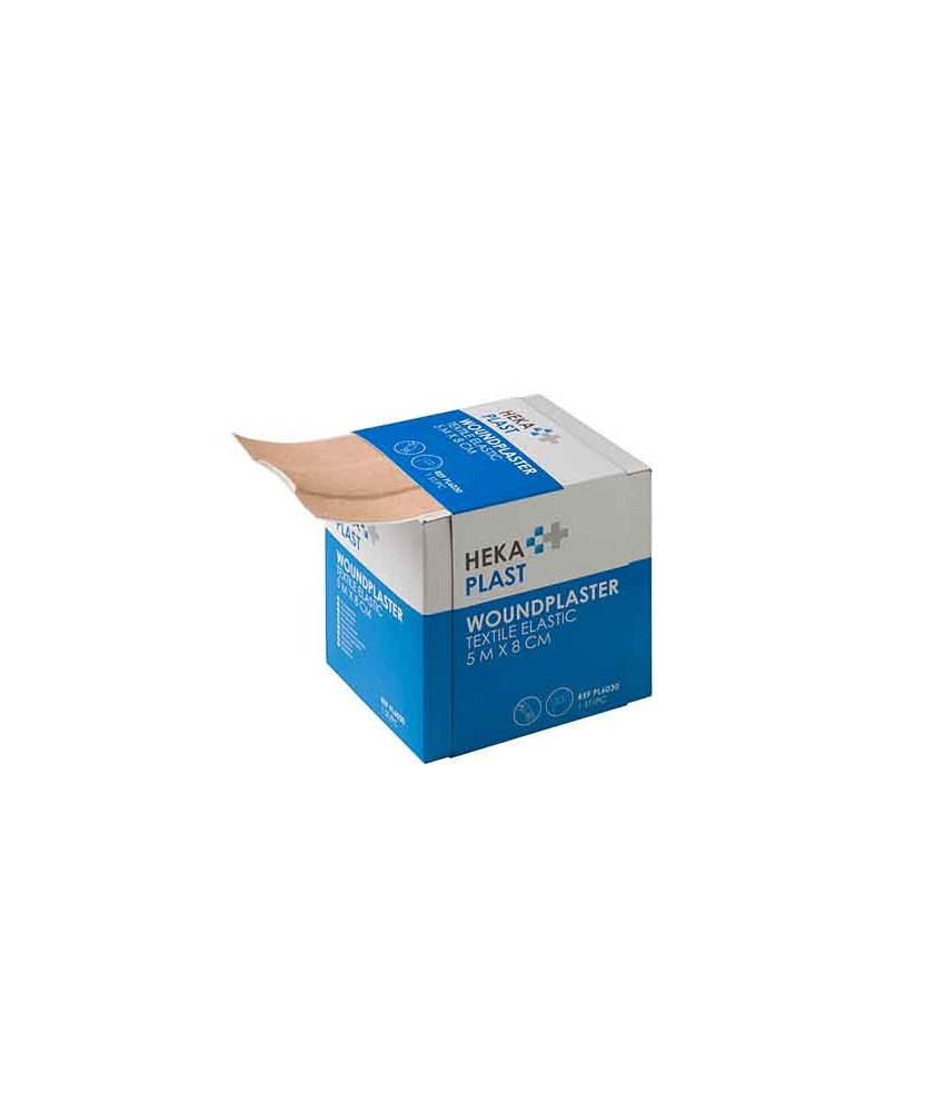 HEKA plast textile elastic dispenserdoos 5 m x 8 cm niet steriel