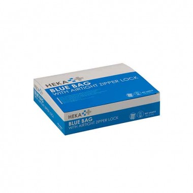 HEKA bluebag stoma afvalzakje gripsluiting niet steriel