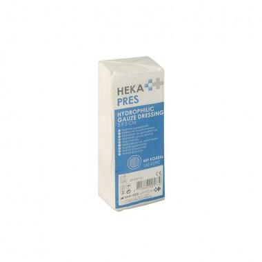 HEKA pres hydrofiel gaaskompres 5 x 5 cm niet steriel - 8 lagen pakje